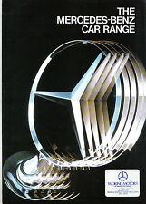 Mercedes Benz Range 190 W124 S-Class SEC SL G-Wagen c. 1989/90 Original Brochure