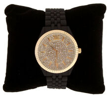 Picard & Cie Summer's Gleam 2 Ladies Watch Swarovski Crystal Face Gold Black New