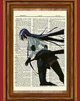 Highschool of The Dead Saeko Busujima Dictionary Art Print Anime High School