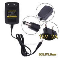 EU Netzteil Netzadapter Adapter Ladekabel Ladegerät AC100-240V auf/zu DC15V 2A