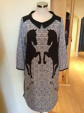James Lakeland Dress Size 10 BNWT Stone Cream Black RRP £179 Now £45