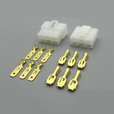 5Kits 6.3mm Car Connector 6P Male Female Electrical Plug Socket for Motorcycle