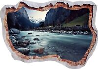 Route 66 Nature Road City USA 3d Smashed View Wall Sticker Poster Bedroom Z591
