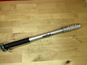Zefal HP Frame Pump 16.5 - 17.5 in Long Black Presta Valve Road Bike