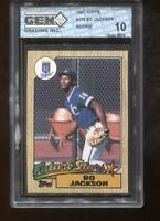 Bo Jackson RC 1987 Topps #170 Rookie GEM MINT 10