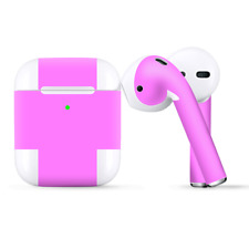 Skins Wraps compatible for Apple Airpods  Solid Pink Color