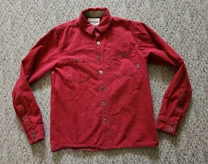 EUC Simms Women's Flannel Fly Fishing Button Down Shirt Color Red Size Small S