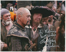 GEOFFREY RUSH Signed 10x8 Photo PIRATES OF THE CARIBBEAN & THE KINGS SPEECH COA