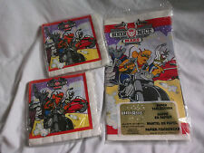 UNUSED Vintage BIKER MICE FROM MARS Paper Tablecover & 2 Sets Napkins Tablecloth