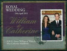 FIJI Sc1255 SG#1448 Used 2011 Marriage Prince William & Catherine MS SCV$12