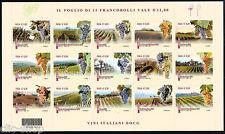 ITALIA 1 FOGLIETTO VINI DOCG CODICE A BARRE 1614 - 2014 nuovo**