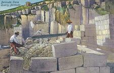 Bermuda * Bermuda Stone Quarry ca. 1910 * Stone Cutters and Saw