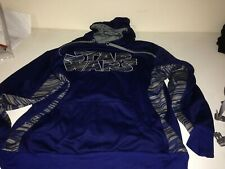 Star Wars Vintage Logo Hooded Sweatshirt Hoodie Blue & Grey XL! dvd/blu-ray logo