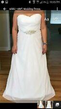 Size 16W Strapless Wedding Dress
