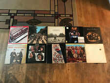 10 Rough Beatles LP Lot - Abbey Road, Let It Be, Sgt Pepper's, White Album etc