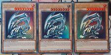 Yu-Gi-Oh! 3x Blauäugiger W. Drache, LCKC-DE001 (v3), Ultra Rare, Playset, NM