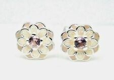 Genuine Pandora Silver Blooming Dahlia Cream & Blush Pink Earrings 290687NBP