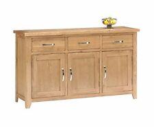 Oakland Large Oak Sideboard 3 Drawers 3 Cupboard Farmhouse Solid Storage Dresser
