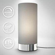 Tischleuchte Stoff Touchlampe dimmbar Nachttisch Schreibtisch Wohnzimmer grau