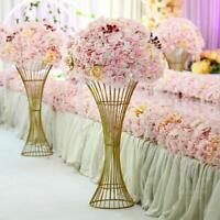 Large Flower Vase Wedding Supply Metal Road Lead Elegant Floor Vase Column Stand