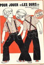 ▬► PATRON Écho de la Mode - Taille enfant 4 et 6 ans - Pantalon à bretelles