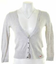 HOLLISTER Womens Cardigan Sweater Size 10 Small Grey Cotton  MA03