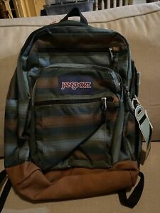 Blue Mesa Striped Jansport Cool Student Backpack Manmade Leather Bottom