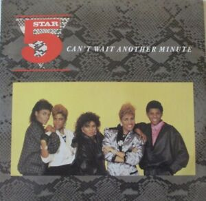 """5 STAR - Cant Wait Another Minute ~ 12"""" Single PS"""
