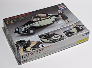 HASEGAWA 1/48 SCALE BMW 327 CAR WITH FEMALE FIGURE AND DOG NEW OPEN BOX X48-13