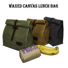 Waterproof Canvas Lunch Bag, Reusable Eco-friendly Storage Bag Vintage Style