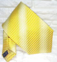 Krawatte seide gold gelb gestreift made in Italy hochzeit business breit € 40