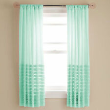 Bottom Horizontal Multi Ruffle Curtains Top Rod Pocket All size & color 2- panel