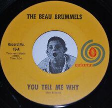 "The Beau Brummels~You Tell Me Why / I Want You~1965 Garage 45 CLEAN VINYL 7"""