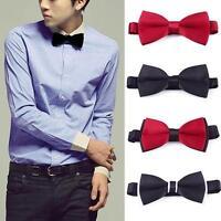 Fashion New Mens Plain Bowtie Polyester Pre Tied Wedding Bow Tie Wholesales