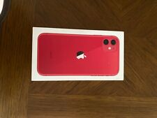 iphone 11 red box. only box and manual is included
