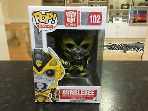 FUNKO POP! TRANSFORMERS #102 BUMBLEBEE WITH WEAPON - MINT , VERY RARE VAULTED