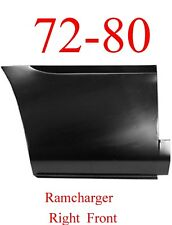 72 80 Dodge Ramcharger Right Front Lower Bed Panel, Patch Panel 1580-242