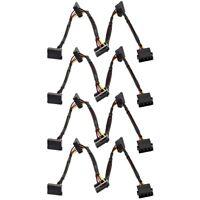 4x Molex 4-Pin to 4 Serial ATA SATA 2 II SATA2 15-Pin HDD Power Adapter Cable