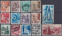 BADEN FRENCH OCCUPATION Mi. #14-27 used stamp set! CV $26.50