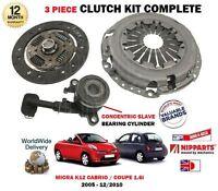Per Nissan Micra 1.6 Sr + Cabrio K12 2005- > Nuovo Frizione Targa Cover Bearing