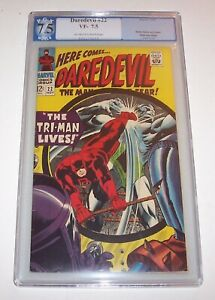 Daredevil #22 - Marvel 1966 Silver Age issue - PGX VF- 7.5 - (1st app Tri-Man)