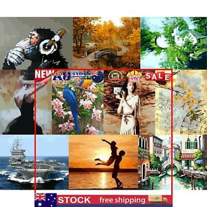 DIY Hand Painted Canvas Oil Art Picture Craft Home Wall Decor Painting Home Wall