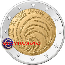 2 Euro Commémorative Andorre 2020 - Suffrage Universel Féminin NEUVE