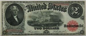 $2 US Note Series 1917 Fr#57 Serial #A25403544A AU