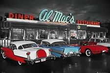 American Diner Poster Retro 50s 57 Chevy 1957 Chevrolet 1950s Wall Art Large