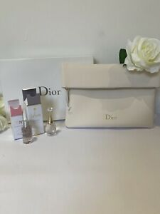 Christian Dior Cream  Trousse Makeup Zip Pouch Jadore Edp Dior Joy Perfumes
