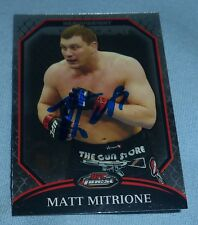 Matt Mitrione Signed 2011 Topps Finest UFC Card #86 Autograph 113 119 165 137
