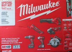 Milwaukee 2697-26 M18 6-Tool Combo Kit BRAND NEW SEALED