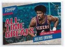 2017-18 Prestige Basketball - Julius Erving - 76ers - All Time Greats Insert #4