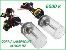 COPPIA LAMPADE LAMPADA LAMPADINE BULBI H7 6000K RICAMBIO PER KIT XENO XENON